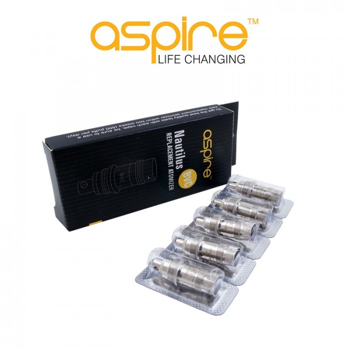 Résistances Aspire Nautilus / Mini Nautilus - Pack de 5