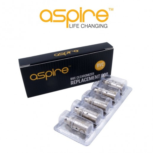 Résistances Aspire BVC - Pack de 5